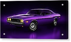 Dodge Challenger Hemi - Shadow Acrylic Print by Marc Orphanos