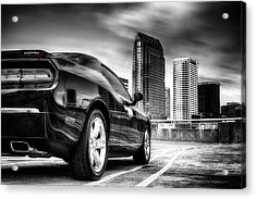 Dodge Challenger Tampa Skyline  Acrylic Print
