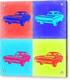 Dodge Charger Pop Art 1 Acrylic Print by Naxart Studio