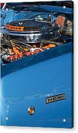 Dodge Coronet 426 Hemi Head Engine Acrylic Print by Jill Reger