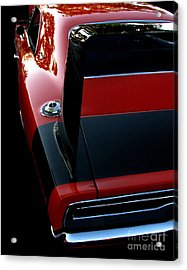 Dodge Daytona Fin Acrylic Print by Peter Piatt
