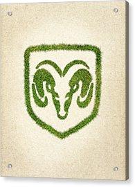 Dodge Grass Logo Acrylic Print by Aged Pixel