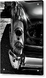 Dodge Royal Lancer Tail Light Art Charcoal Acrylic Print by Lesa Fine