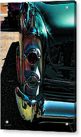 Dodge Royal Lancer Taillights Green Acrylic Print by Lesa Fine