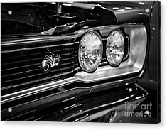 Dodge Super Bee Black And White Acrylic Print by Paul Velgos