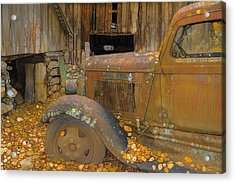Dodge Truck Autumn Abstract Acrylic Print by Dan Sproul