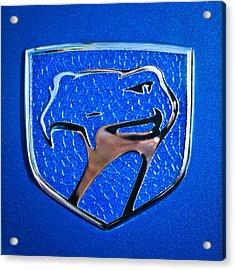 Dodge Viper Emblem -217c Acrylic Print by Jill Reger