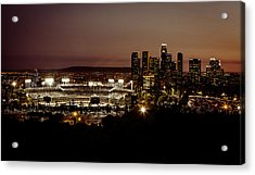 Dodger Stadium At Dusk Acrylic Print