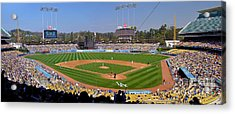 Dodger Stadium Panorama Acrylic Print by Eddie Yerkish