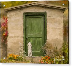 Dog At The Door Acrylic Print by Andrea Auletta