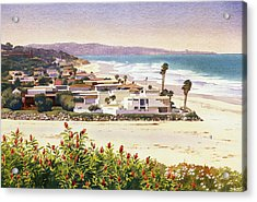 Dog Beach Del Mar Acrylic Print