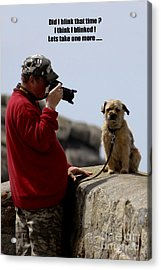 Dog Being Photographed Acrylic Print by Terri Waters