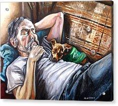 Dog Days Acrylic Print by Shana Rowe Jackson