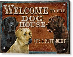 Dog House Acrylic Print by JQ Licensing