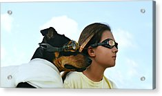 Dog Is My Co-pilot Acrylic Print by Laura Fasulo