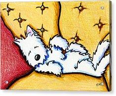 Dog Napped Acrylic Print by Kim Niles