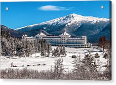 Dog Sled At The Mount Washington Hotel Acrylic Print