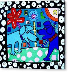Dog Speak Acrylic Print by Susan Sorrell