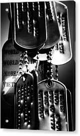 Dog Tags From War Acrylic Print
