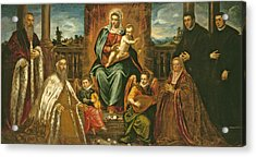 Doge Alvise Mocenigo And Family Before The Madonna And Child Acrylic Print