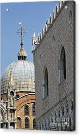 Doges Palace And San Marco Basilica Acrylic Print by Sami Sarkis