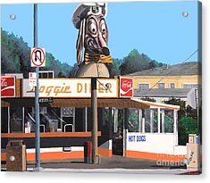 Doggie Diner 1986 Acrylic Print by Wingsdomain Art and Photography