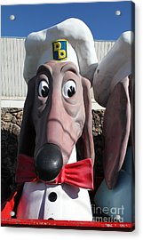 Doggie Diner Dog - Red Bow Tie - 5d20934 Acrylic Print by Wingsdomain Art and Photography