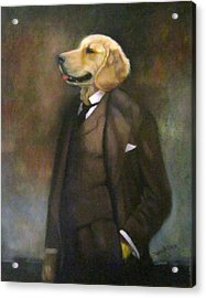 Doggone Executive Acrylic Print by Janet McGrath