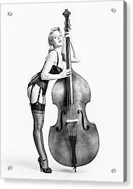 Acrylic Print featuring the photograph Doghouse With Mosh - String Bass Baby   by Gary Heller