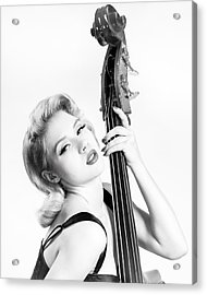 Doghouse Portrait Of Mosh - Double Bass Acrylic Print by Gary Heller