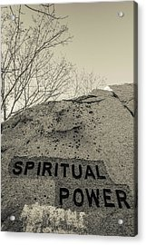 Dogtown Rock With Inspirational Words Acrylic Print by Panoramic Images