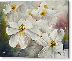 Acrylic Print featuring the painting Dogwood 6 by Bill Jackson