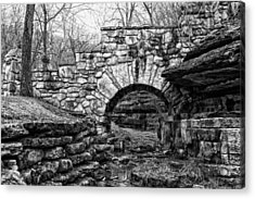 Dogwood Canyon Stone Bridge Acrylic Print by David Waldo