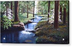 Dogwood Creek Acrylic Print by Bob Hallmark