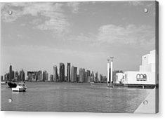 Doha Bay Dec 26 2012 Acrylic Print by Paul Cowan