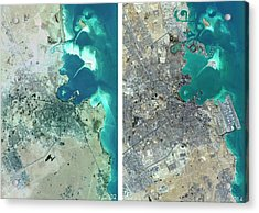 Doha Urban Spread Acrylic Print by Planetobserver