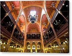 Dohany Synagogue In Budapest Acrylic Print by Madeline Ellis