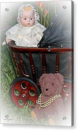 Doll And Teddy Acrylic Print