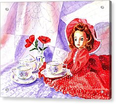 Doll At The Tea Party  Acrylic Print