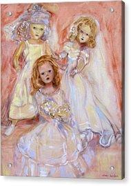 Doll Fancy Acrylic Print by Susan Hanlon