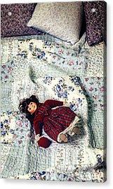 Doll On Bed Acrylic Print by Joana Kruse