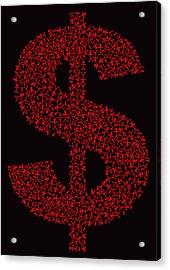 Dollar People Icon Acrylic Print