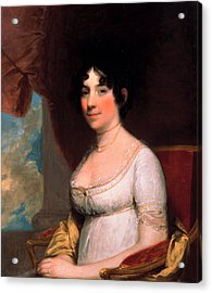 Dolley Payne Madison Acrylic Print by Gilbert Stuart