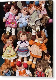 Acrylic Print featuring the photograph Dolls by Marcia Socolik