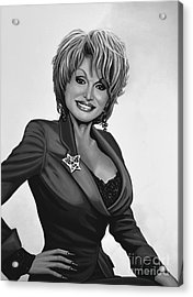 Dolly Parton Acrylic Print by Meijering Manupix
