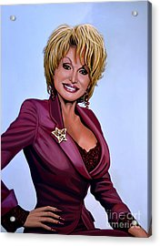 Dolly Parton Acrylic Print by Paul Meijering