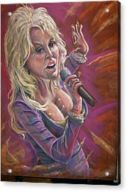 Acrylic Print featuring the pastel Dolly by Peter Suhocke