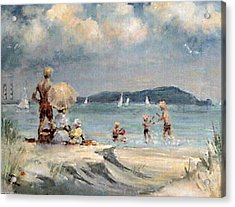 Dollymount Strand  Clontarf Acrylic Print