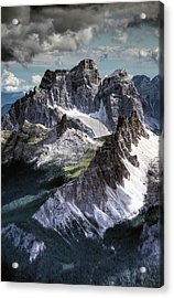 Dolomites Peaks View From Lagazuoi Acrylic Print by Mariusz Kluzniak