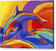 Dolphin Dance Acrylic Print